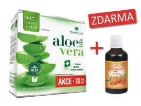 AloeVeraLife 1000ml+1000ml+Rakytníkový olej 50ml ZDARMA