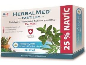 HerbalMed pastilky Dr. Weiss při rýmě 24 pastilek + 6 pastilek ZDARMA