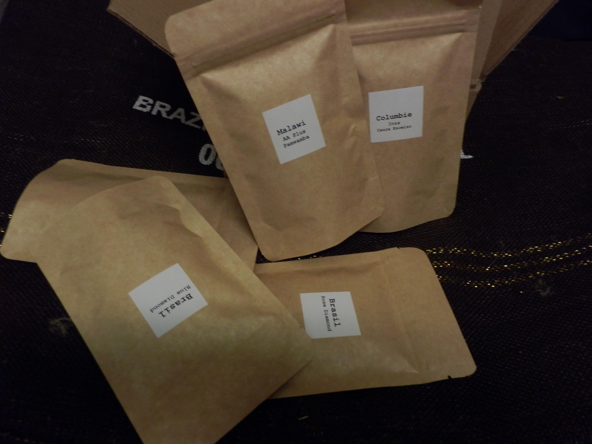 Coffeespot 2. Degustační balení kávy 5 x 50g ZRNO
