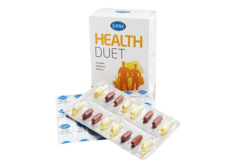 Lýsi Health Duet - multivitamín a rybí olej 1000 mg 64 kapslí