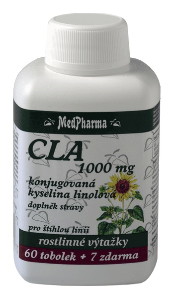 MedPharma CLA 1000 mg - konjugovaná kyselina linolová 60 tob. + 7 tob. ZDARMA
