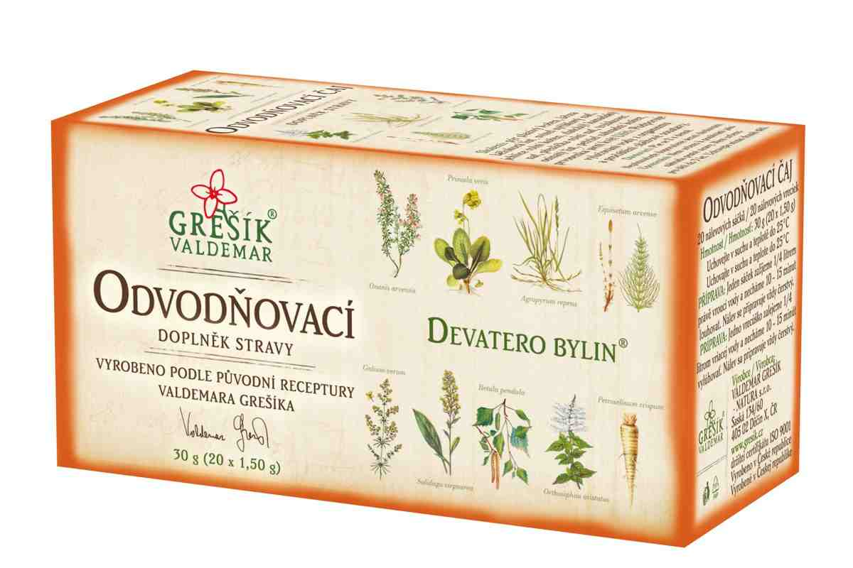 Grešík Odvodňovací čaj 20x1.5g Devatero bylin