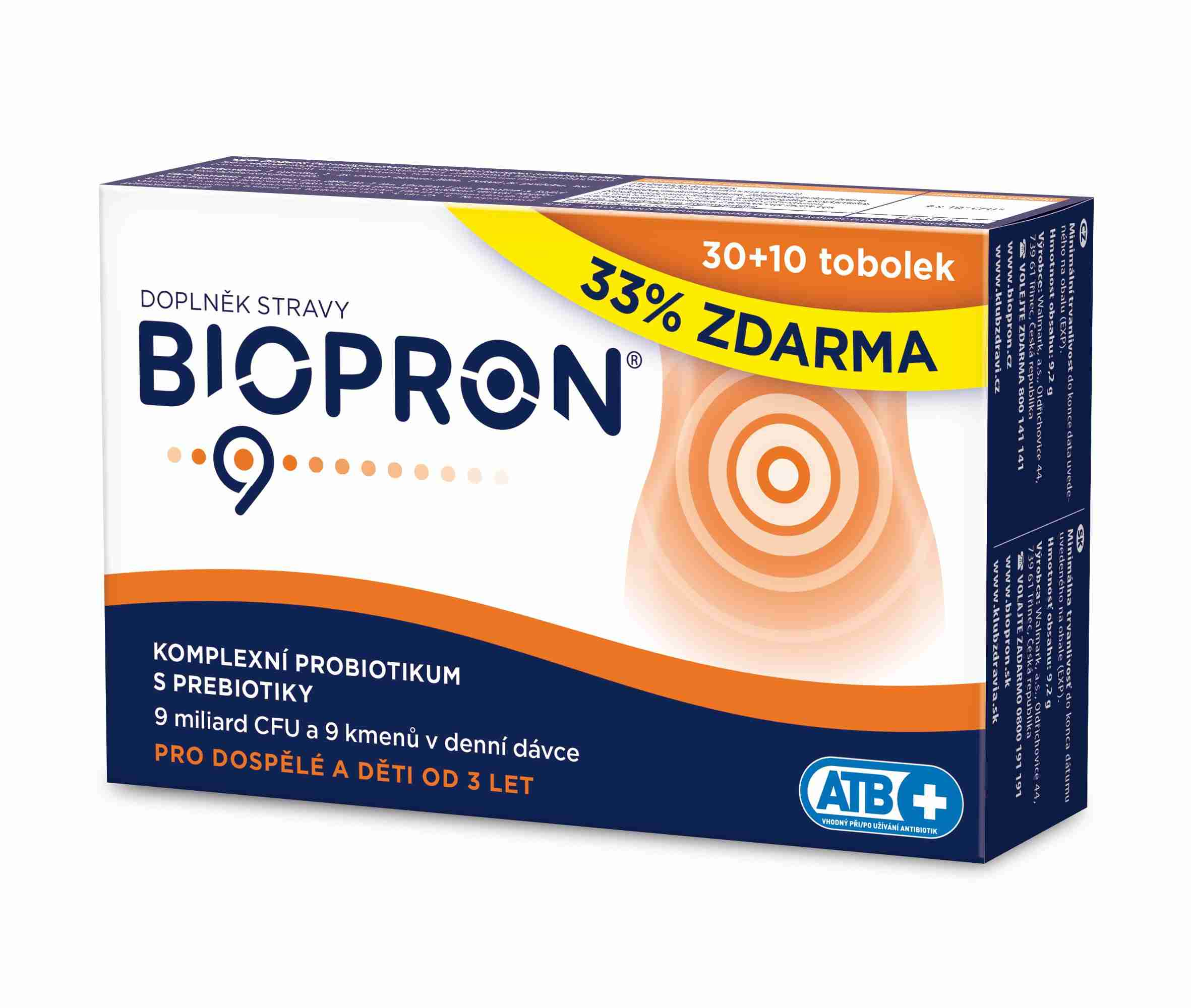 Valosun Biopron9 30 tob.+ 10 tob. ZDARMA