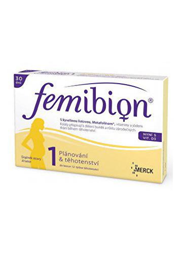 Merck Femibion 1 s vitamínem D3 30 tbl.