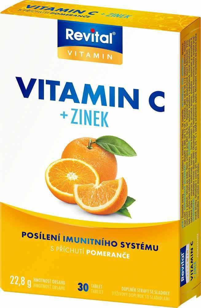 Vitar Revital Vitamín C + Zinek 30 tbl.