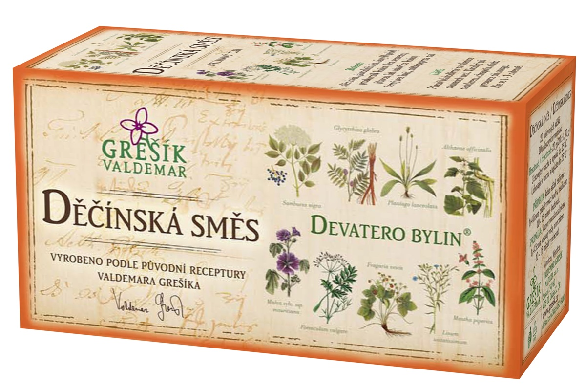 Grešík Děčínská směs čaj n.s. 20x1.5g Devatero bylin