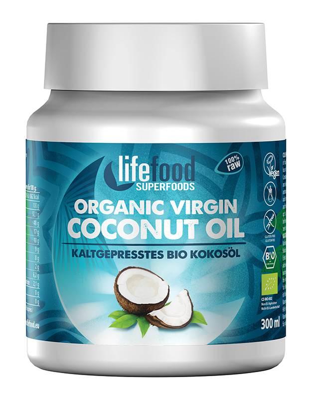 Lifefood Bio Panenský kokosový olej Raw 300 ml