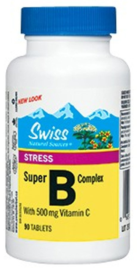 Swiss Super B complex s vitaminem C 500 mg 90 tbl.