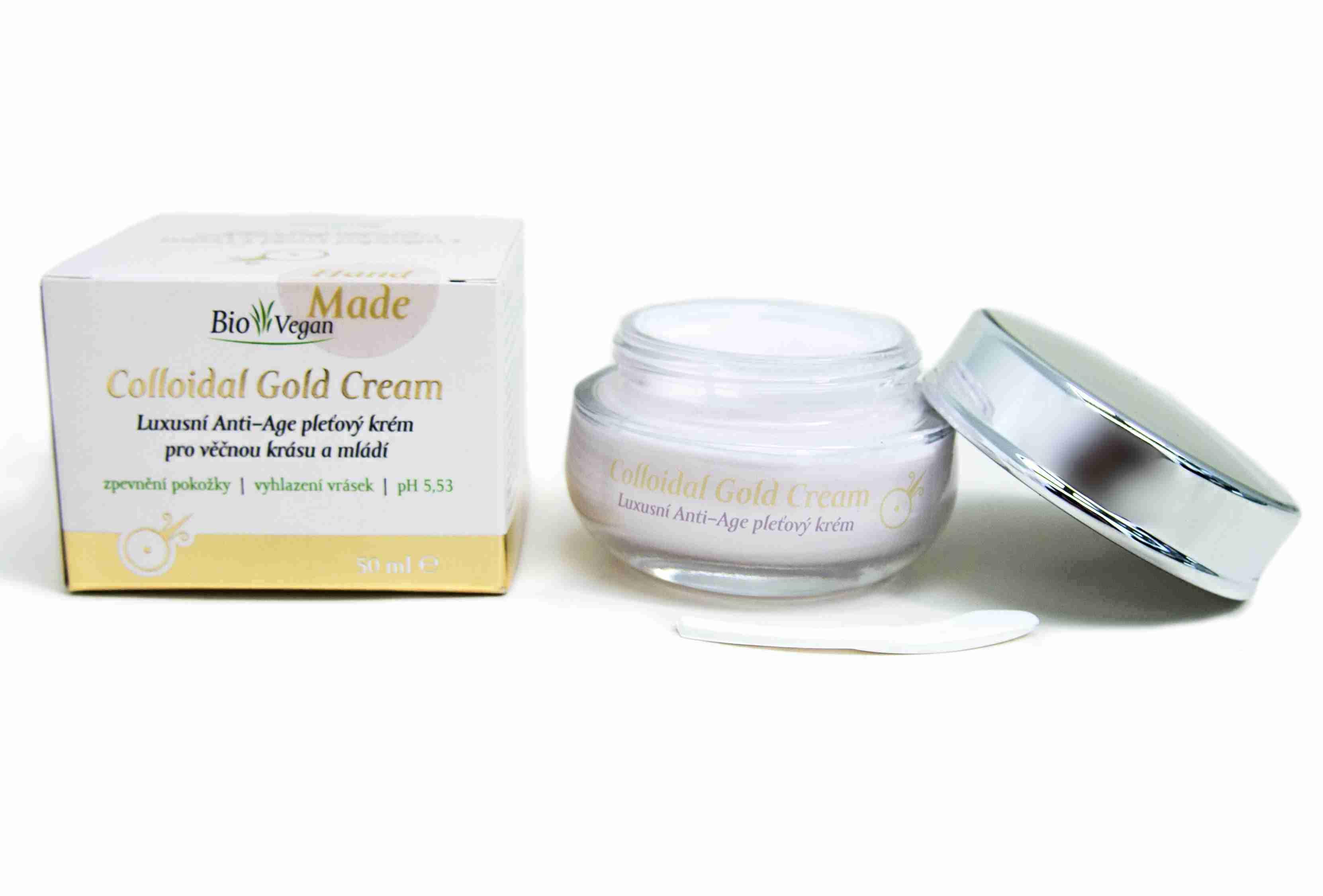 Lakshmi-Narayan Colloidal Gold Cream Luxusní anti-age pleťový krém pro věčnou krásu a mládí 50 ml