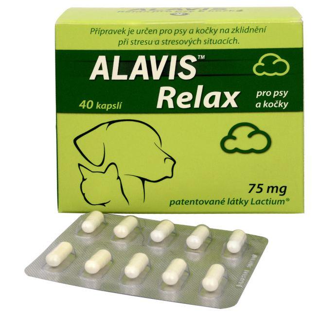 ALAVIS™ Relax pro psy a kočky 75 mg 40 kapslí